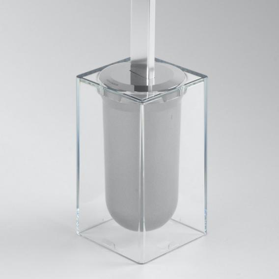 KOH-I-NOOR MATERIA Toilettenbürstengarnitur, freistehend aluminium glanz