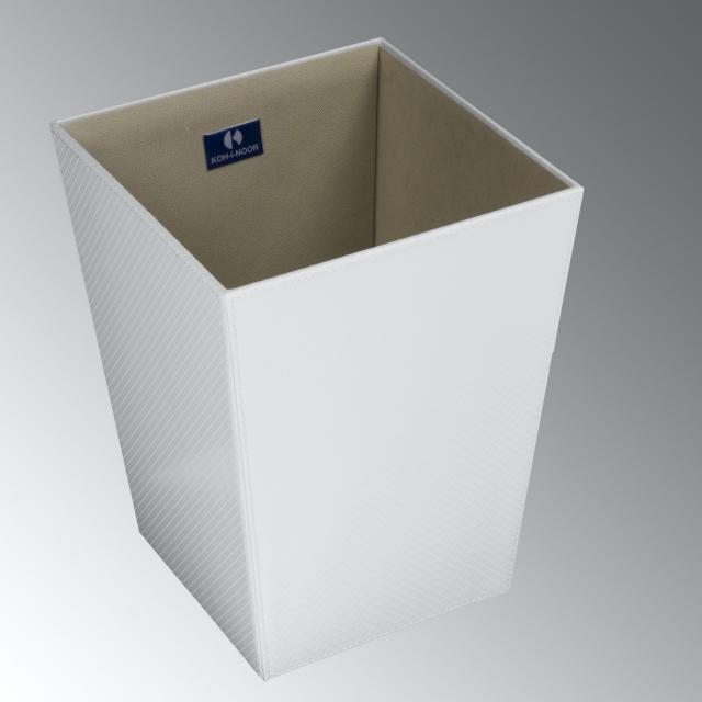 KOH-I-NOOR ECOPELLE Papierkorb weiß metallic