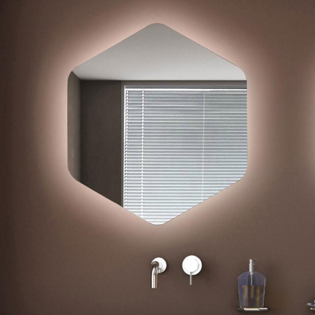 KOH-I-NOOR ESAGONO AMBIENTE Spiegel mit LED-Beleuchtung