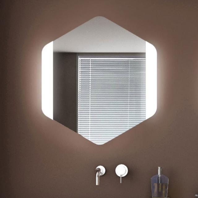 KOH-I-NOOR ESAGONO FRONTALE Spiegel mit LED-Beleuchtung