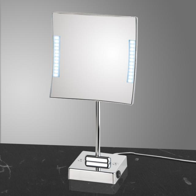 KOH-I-NOOR QUADROLO LED Stand-Kosmetikspiegel