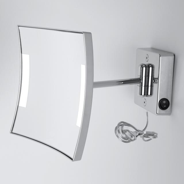 KOH-I-NOOR QUADROLO LED Wand-Kosmetikspiegel, mit Stecker