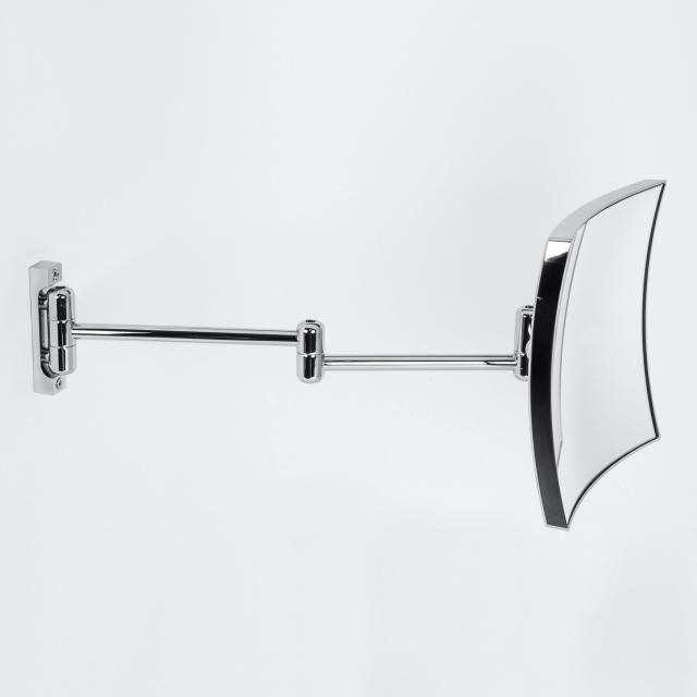 KOH-I-NOOR QUADROLO Wand-Kosmetikspiegel, A: 460 mm, Vergrößerung 3x