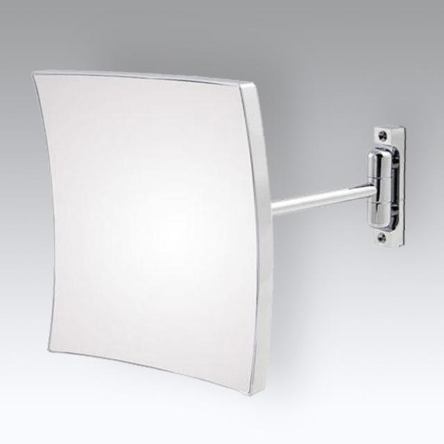 KOH-I-NOOR QUADROLO Wand-Kosmetikspiegel, starrer Arm, neigbar
