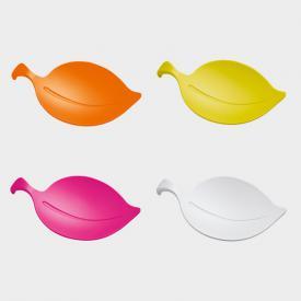 Koziol LEAF-ON Gläsermerker, Snackschale und Insektenschutz