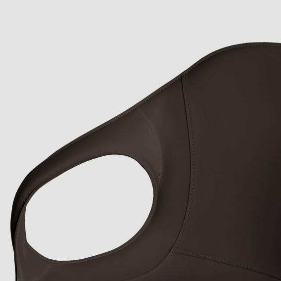 Kristalia Elephant Sessel auf Ständer, Kernleder, drehbar