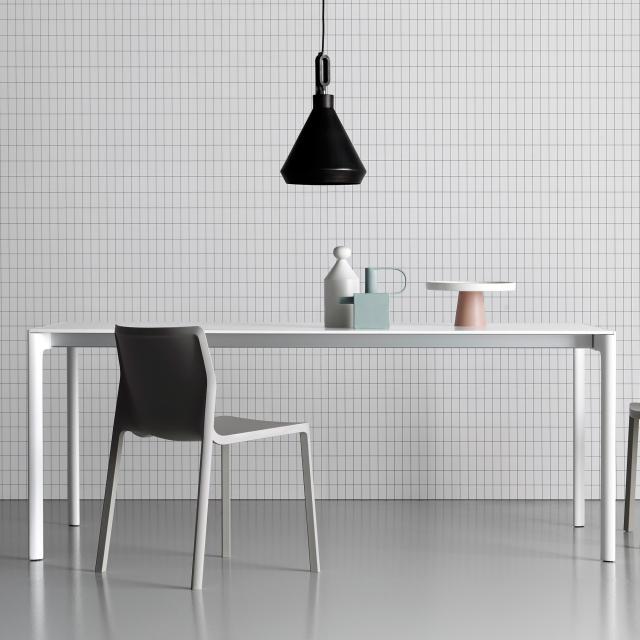 Kristalia Maki Pure-White Esstisch mit 3 Auszügen