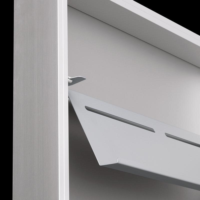 kristalia foot box schuhschrank 20box01 aluminium spiegel reuter. Black Bedroom Furniture Sets. Home Design Ideas
