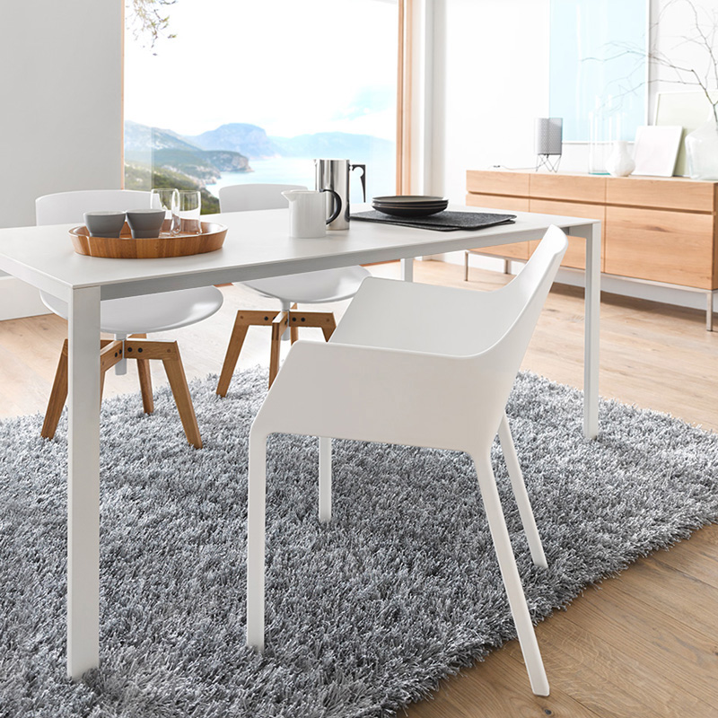 kristalia thin k aluminium esstisch mit auszug 01thk02r vp1 vp1 reuter. Black Bedroom Furniture Sets. Home Design Ideas
