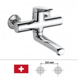 KWC Adrena Einhebel-Waschtischmischer mit Schwenkauslauf, für Wandmontage Ausladung: 235 mm