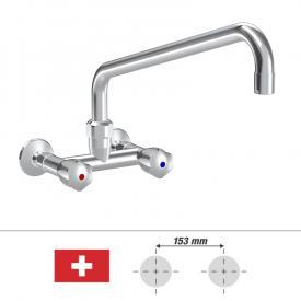 KWC Gastro Zweigriff-Küchenmischer mit Schwenkauslauf, für die Schweiz Ausladung 450 mm