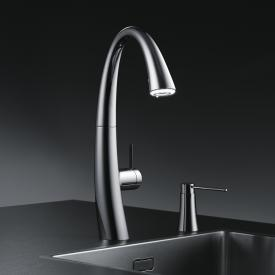 KWC Zoe Küchenarmatur mit LUMINAQUA® LED-Technologie chrom