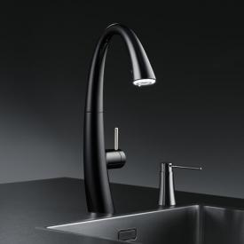 KWC Zoe Küchenarmatur mit LUMINAQUA® LED-Technologie schwarz