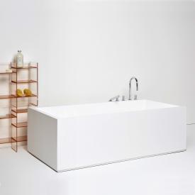 Kartell by Laufen Freistehende Rechteck-Badewanne mit LED-Beleuchtung, Fußende rechts
