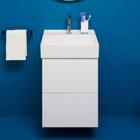 Kartell by Laufen Handwaschbeckenunterschrank mit 2 Auszügen Front weiß matt / Korpus weiß matt