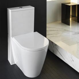 Kartell by Laufen Stand-Tiefspül-WC Kombination, spülrandlos weiß, mit CleanCoat