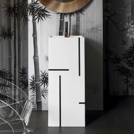 Kartell by Laufen Waschtisch, freistehend weiß/schwarz, mit 1 Hahnloch
