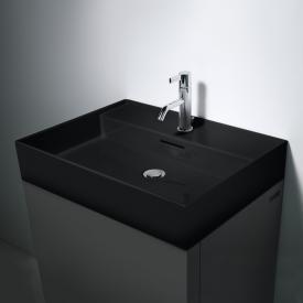 Kartell by Laufen Waschtisch schwarz, mit 1 Hahnloch, ungeschliffen