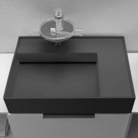 Kartell by Laufen Waschtisch graphit matt, mit 1 Hahnloch
