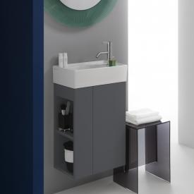 Kartell by Laufen Waschtischunterschrank mit 1 Tür Front schiefer / Korpus schiefer