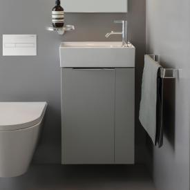 Kartell by Laufen Waschtischunterschrank mit 1 Tür und bewegl. Blende Front grau matt / Korpus grau matt
