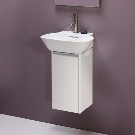 Laufen Base für INO Waschtischunterschrank mit 1 Tür Front weiß matt / Korpus weiß matt, Griffleiste aluminium
