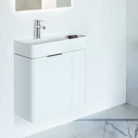 Laufen Base für VAL Waschtischunterschrank mit 2 Türen Front weiß matt / Kropus weiß matt