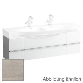 Laufen Case for Palace Waschtischunterschrank für Doppelwaschtisch mit 2 Auszügen und 2 Türen Front eiche gekalkt / Korpus eiche gekalkt