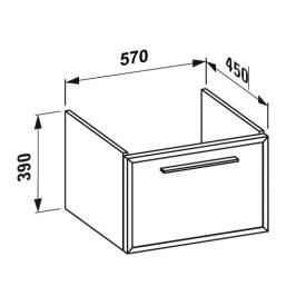 Laufen Case Plus zu Pro Waschtischunterbau Front Glas weiß/Korpus weiß