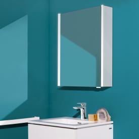 Laufen frame 25 Spiegelschrank mit LED-Beleuchtung Seitenteile weiß hochglanz