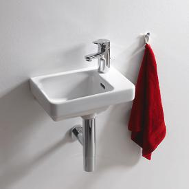 Laufen Pro S Handwaschbecken weiß, mit Überlauf, mit 1 Hahnloch