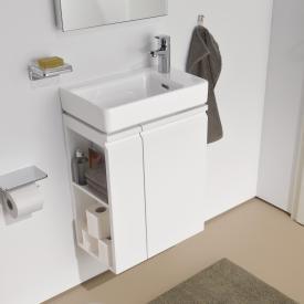 Laufen Pro S Handwaschbecken mit Waschtischunterschrank mit 1 Tür Front weiß matt / Korpus weiß matt, mit 1 Hahnloch