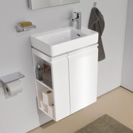 Laufen Pro S Handwaschbeckenunterschrank mit 1 Tür und Seitenablage Front weiß glanz / Korpus weiß glanz