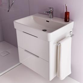 Laufen Pro S Waschtisch mit Waschtischunterschrank mit 2 Auszügen weiß, mit Clean Coat, mit 1 Hahnloch, mit Überlauf