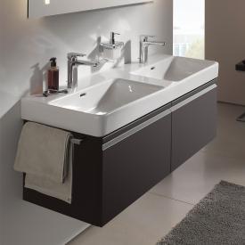 Laufen Pro S Waschtischunterschrank für Doppelwaschtisch mit 2 Auszügen Front graphit / Korpus graphit, mit Innenschubladen