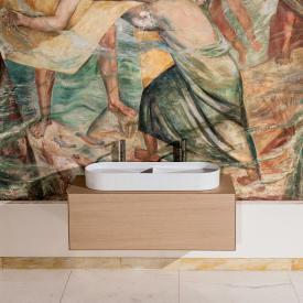 Laufen SONAR Doppelwaschtisch-Schale mit Textur weiß