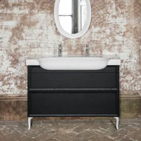 Laufen The New Classic Waschtischunterschrank mit 2 Auszügen Front eiche geschwärzt / Korpus eiche geschwärzt