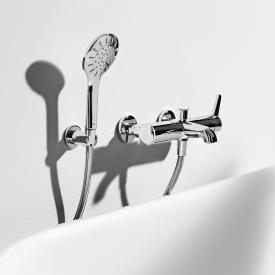 Laufen VAL Einhand-Bademischer, für Wandmontage, mit Brausegarnitur, für die Schweiz