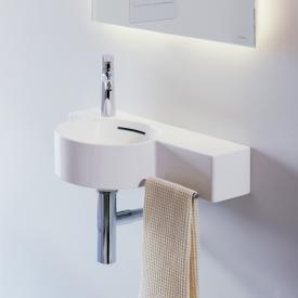 Laufen VAL Handwaschbecken weiß mit Clean Coat, 1 Hahnloch, mit Überlauf