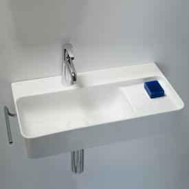 Laufen VAL Waschtisch Compact weiß matt, mit 1 Hahnloch, mit Überlauf, ungeschliffen