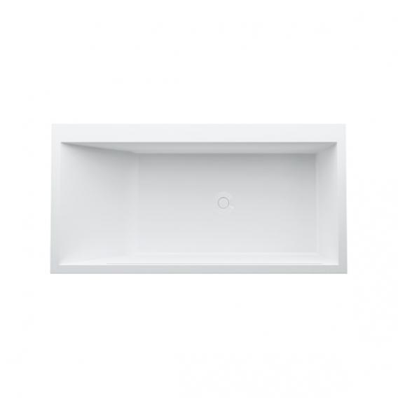 Kartell by Laufen freistehende Badewanne mit LED-Beleuchtung, Fußende rechts