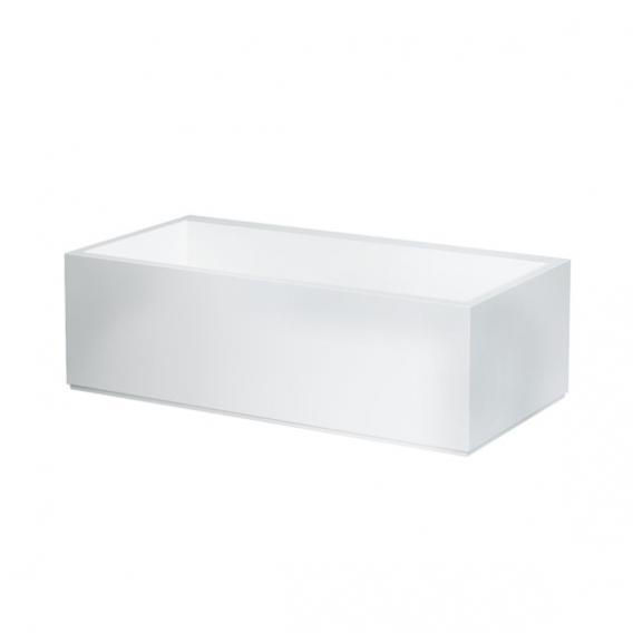 Kartell by Laufen Freistehende Rechteck-Badewanne mit LED-Beleuchtung, Fußende links