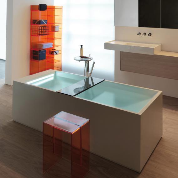 Kartell by Laufen Freistehende Rechteck-Badewanne mit LED-Beleuchtung