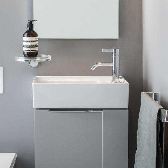 Kartell by LAUFEN Handwaschbecken, mit verdecktem Ablauf weiß, mit Clean Coat und 1 Hahnloch