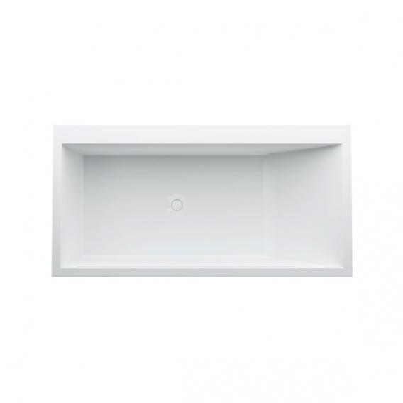 Kartell by Laufen Rechteck-Badewanne mit L-Schürze, LED-Beleuchtung, Fußende links