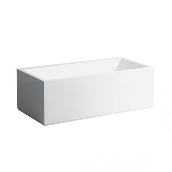 Kartell by Laufen Rechteck-Badewanne mit L-Schürze, LED-Beleuchtung, Fußende rechts