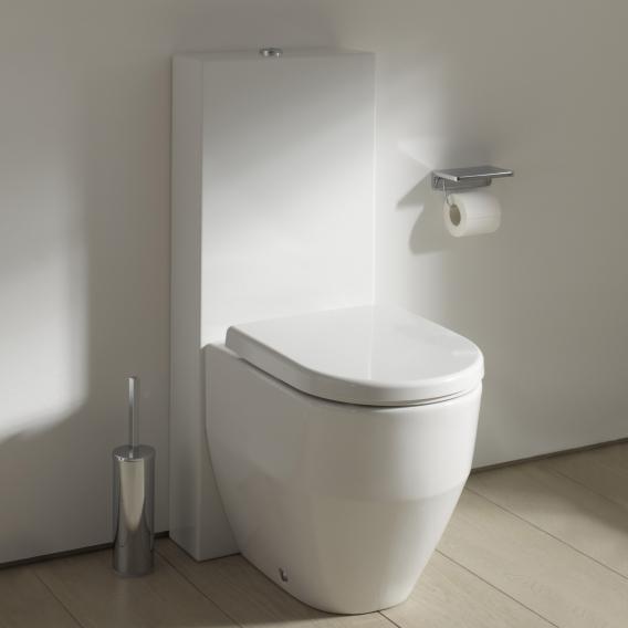 Kartell by Laufen Stand-Spülkasten weiß, Wasseranschluss seitlich oben links oder rechts