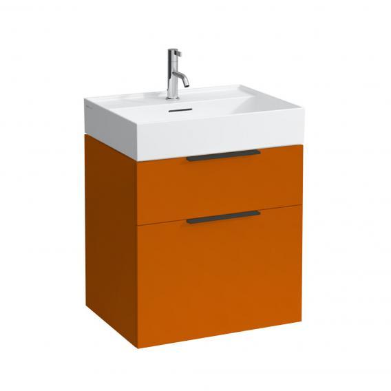 Kartell by LAUFEN Waschtischunterschrank mit 2 Auszügen Front orange glanz / Korpus orange glanz