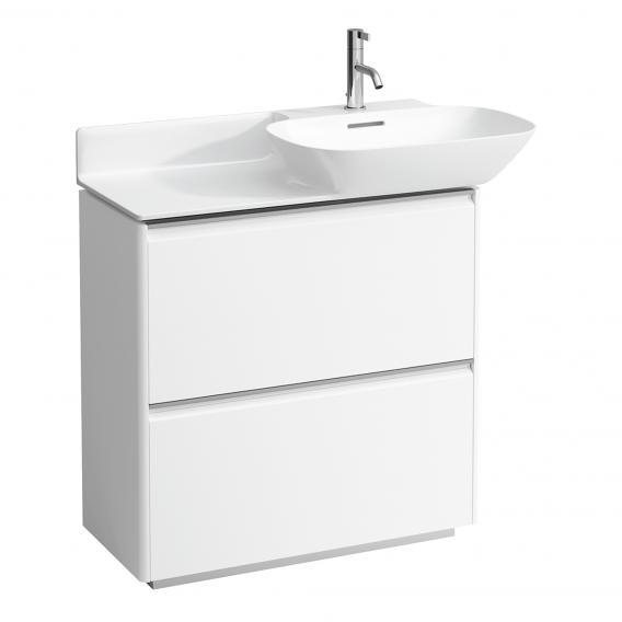 Laufen Base für INO Waschtischunterschrank mit 2 Auszügen Front weiß matt / Korpus weiß matt, Griffleiste aluminium