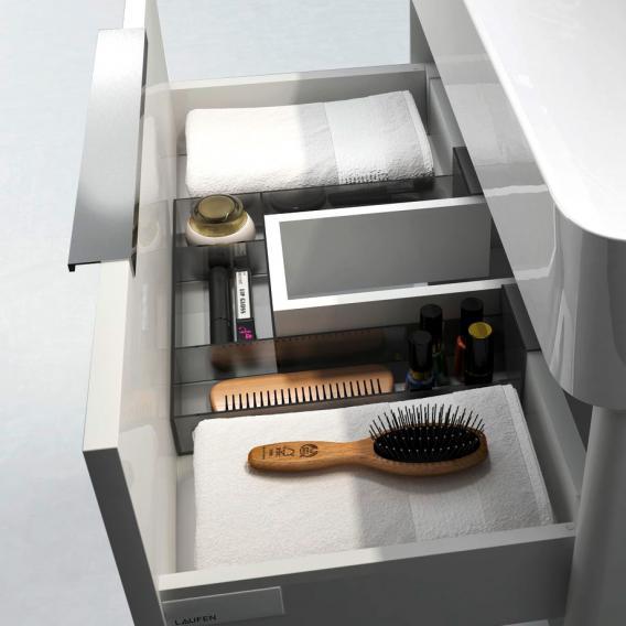 Laufen Base für VAL Waschtischunterschrank mit 2 Auszügen Front weiß glanz / Korpus weiß glanz